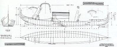 Detail gondola boat building plans for boat maker for Negozi piani di costruzione